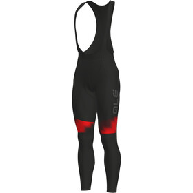 Alé Cycling Solid Pulse Bib Tights Herre black-bordeaux-red